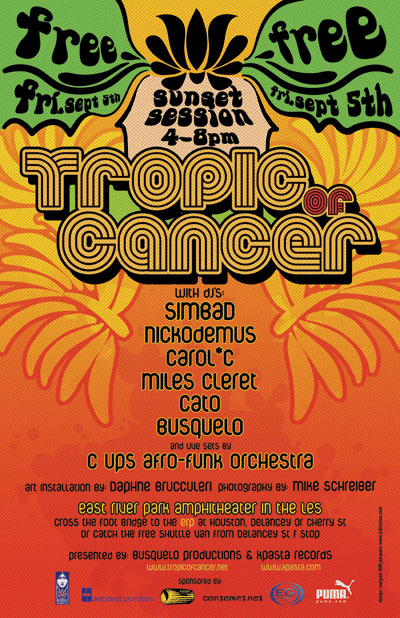 tropic of cancer flyer